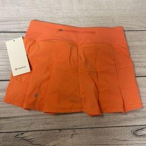 NWT LULULEMON Pace Rival Skirt Golden Apricot 4